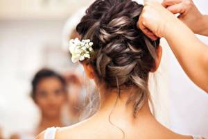 Beautiful Bride Getting Ready for the happiest day of her life.