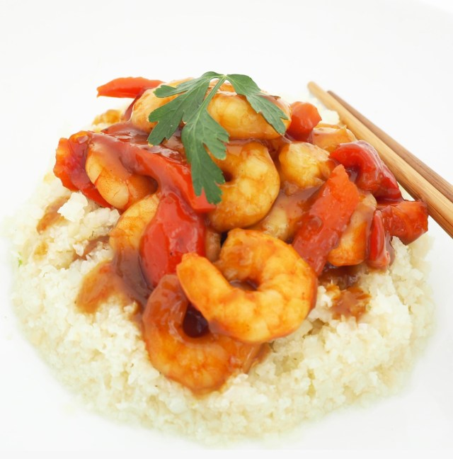 Prawn Teriyaki & Cauliflower Rice Recipe