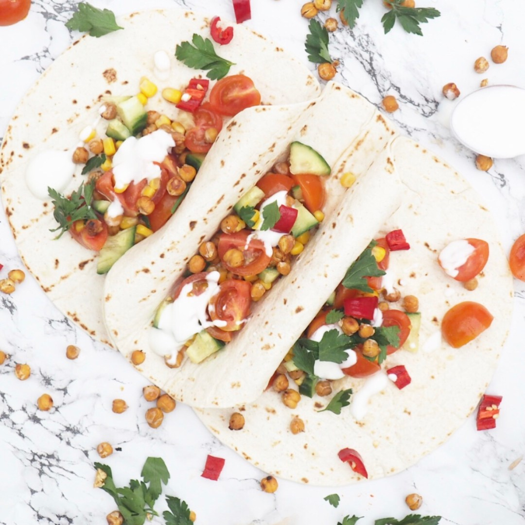 Mexican Chickpea Wrap Recipe