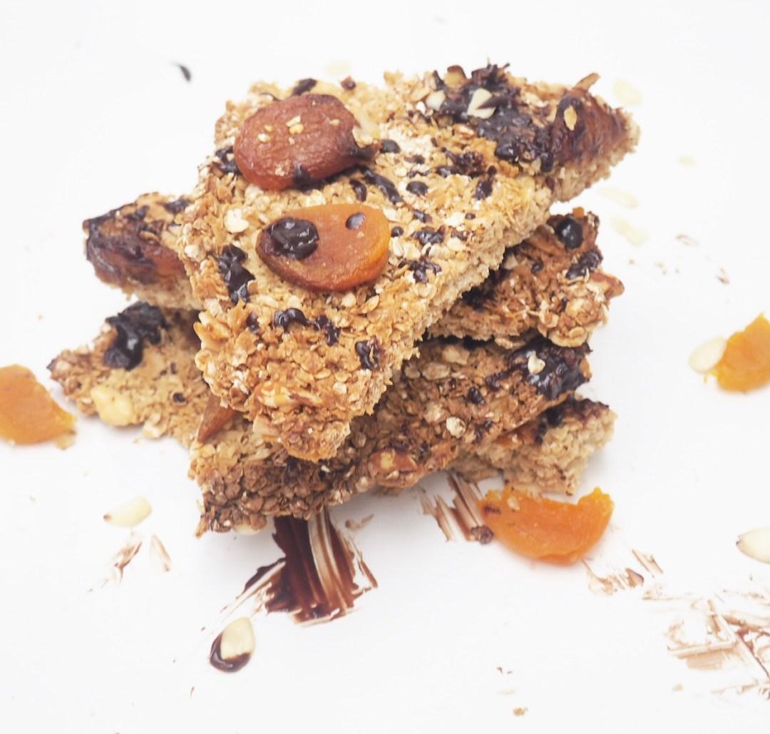 Apricot, Almond & Dark Chocolate Slices Recipe