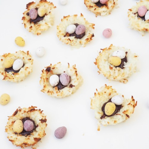 Coconut & Chocolate Mini Egg Nests