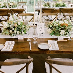 Renting Tables And Chairs For Wedding Modecraft New York Barber Chair Allure Party Rentals Rent Tents Linens In South Fl Furniture Rustic Farmhouse