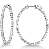 Oval Diamond Hoop Earrings Diamond Hoop Earrings