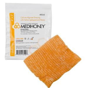 """Medihoney Calcium Alginate Dressing, 4"""" x 5"""""""