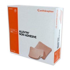 "Allevyn Non-Adhesive Dressing, 4""x4"" 10ea/bx 7bx/cs"