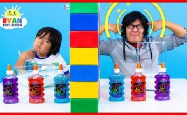 Twin Telepathy Slime Challenge Ryan Vs Daddy Allvloggers