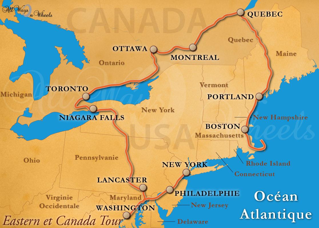 Allwaysonwheels Voyage Moto Canada Et Cote Est Des USA