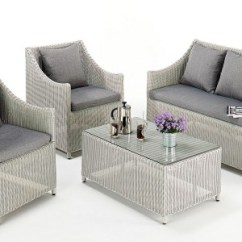 Wicker Sofa Uk Quilted Microfiber Protector Kathleen Contemporary Rattan Set All Weather Garden