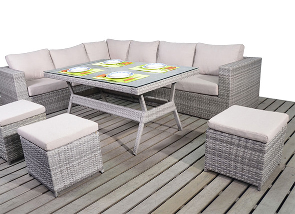 garden corner sofa with dining table telebrands 5 in 1 bed complaint olivia verdant rattan set right all