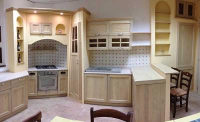 Cucina componibile ad angolo Cucine Legno Massello