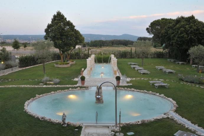 Hotel 4 stelle con Piscina Termale a Viterbo Centro Benessere con Piscina coperta termale