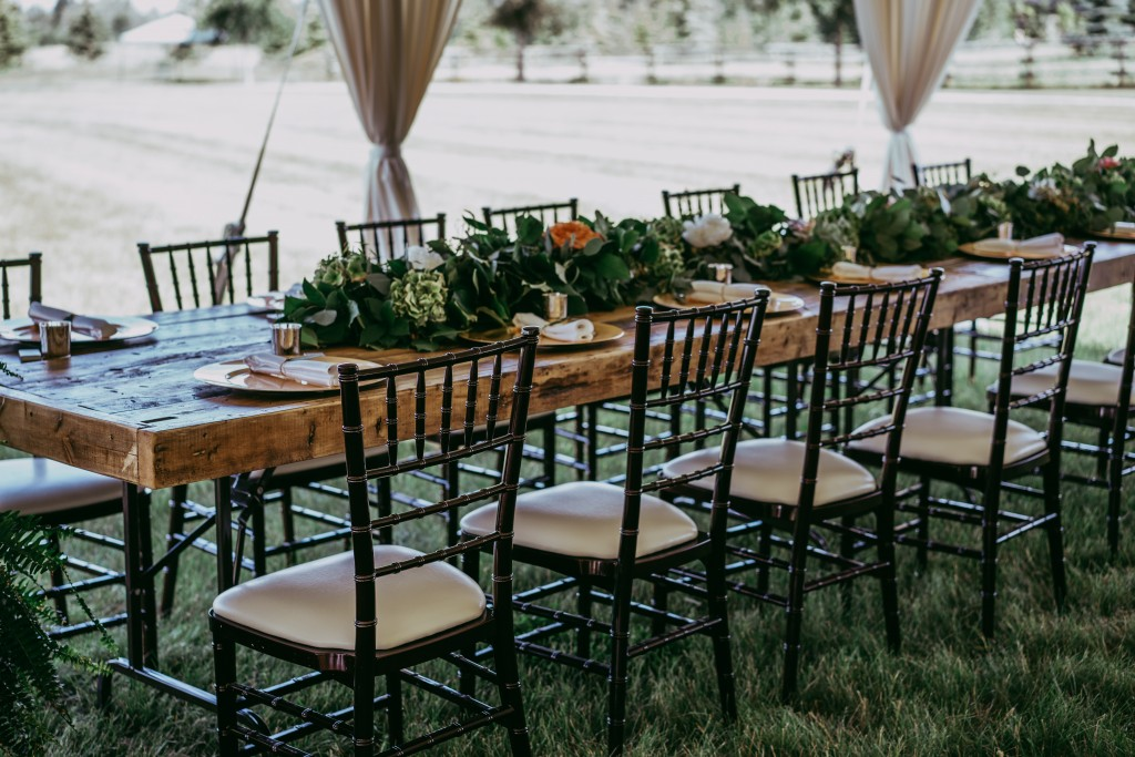 All West Wedding Rentals  Chaivari Chairs Chair Covers