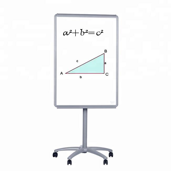 Aluminum Frame 70 100cm Mobile Whiteboard Flipchart