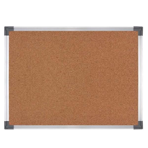 Classic Bulletin Cork Pin Board w Silver Aluminum Frame