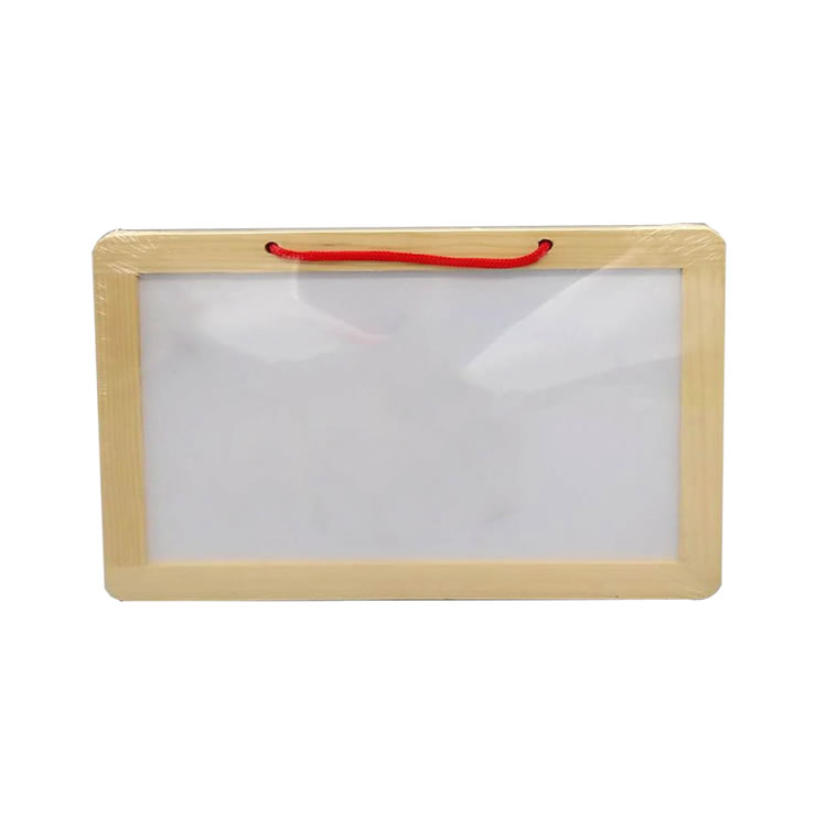 Students Kids Wooden Frame Dry Erase Melamine Whiteboard