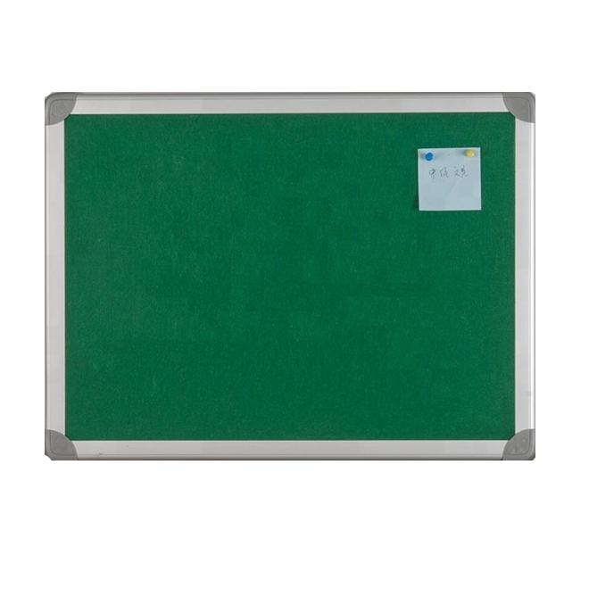 Green Bulletin Cork Fabric Board