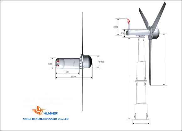 H10.0-30KW Off Grid Wind Turbine from China manufacturer