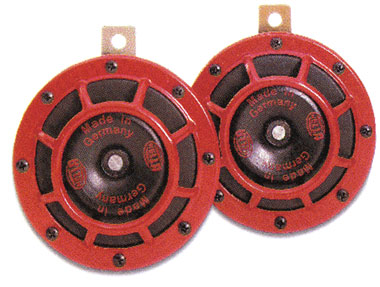 Hella Red Grill Supertone Horn Set B133