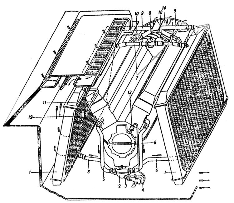 Tank Air Cooled Engine Diagram. Catalog. Auto Parts