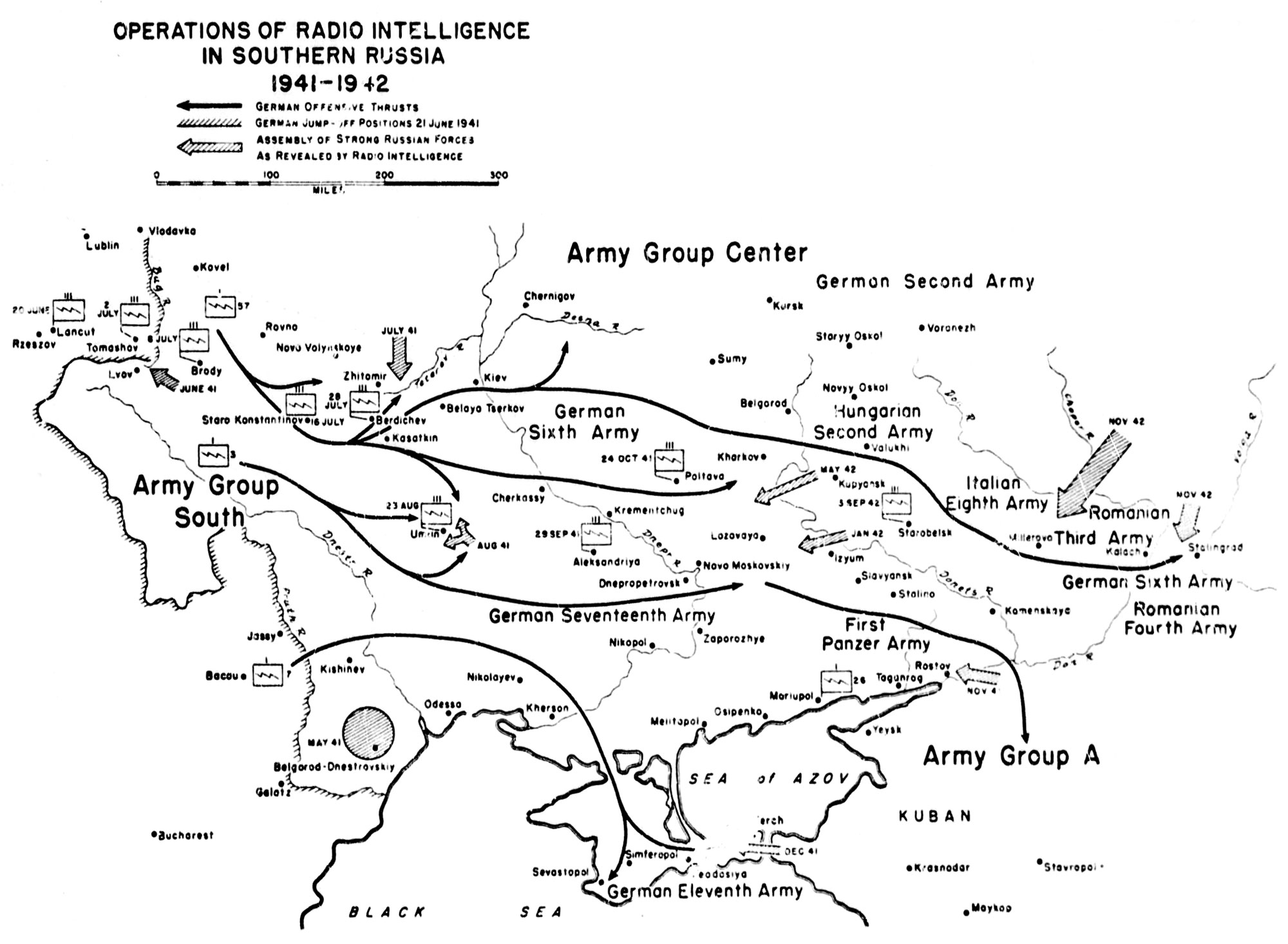 hight resolution of chart 9 operations of radio intelligence in southern russia 1941 42