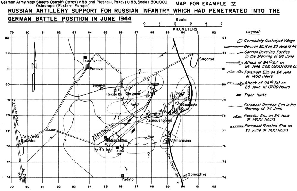 medium resolution of example v russian artillery support for russian infantry which had penetrated into the german battle position