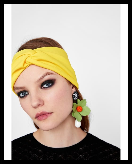 yellow plain headband