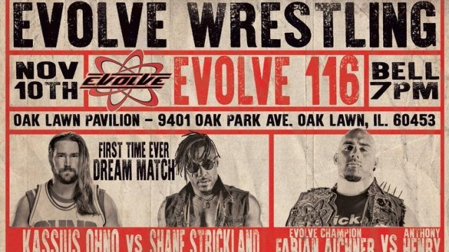 Watch Evolve Wrestling 116 11/10/2018 Full Show Online Free