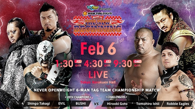 Watch NJPW Road to the NEW BEGINNING 2/6/2020 Full Show Online Free