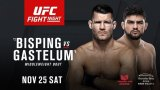 Watch UFC Fight Night 122: Bisping vs. Gastelum 11/25/2017 Full Show Online Free