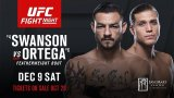 Watch UFC Fight Night 123: Swanson vs. Ortega 12/9/2017 Full Show Online Free