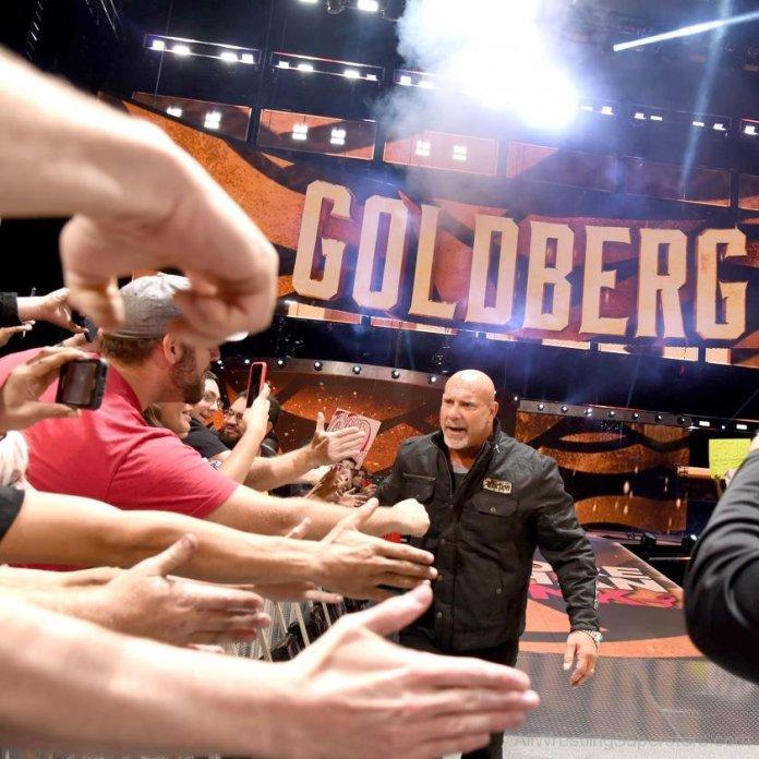 WWE Goldberg Handshaking With Fans
