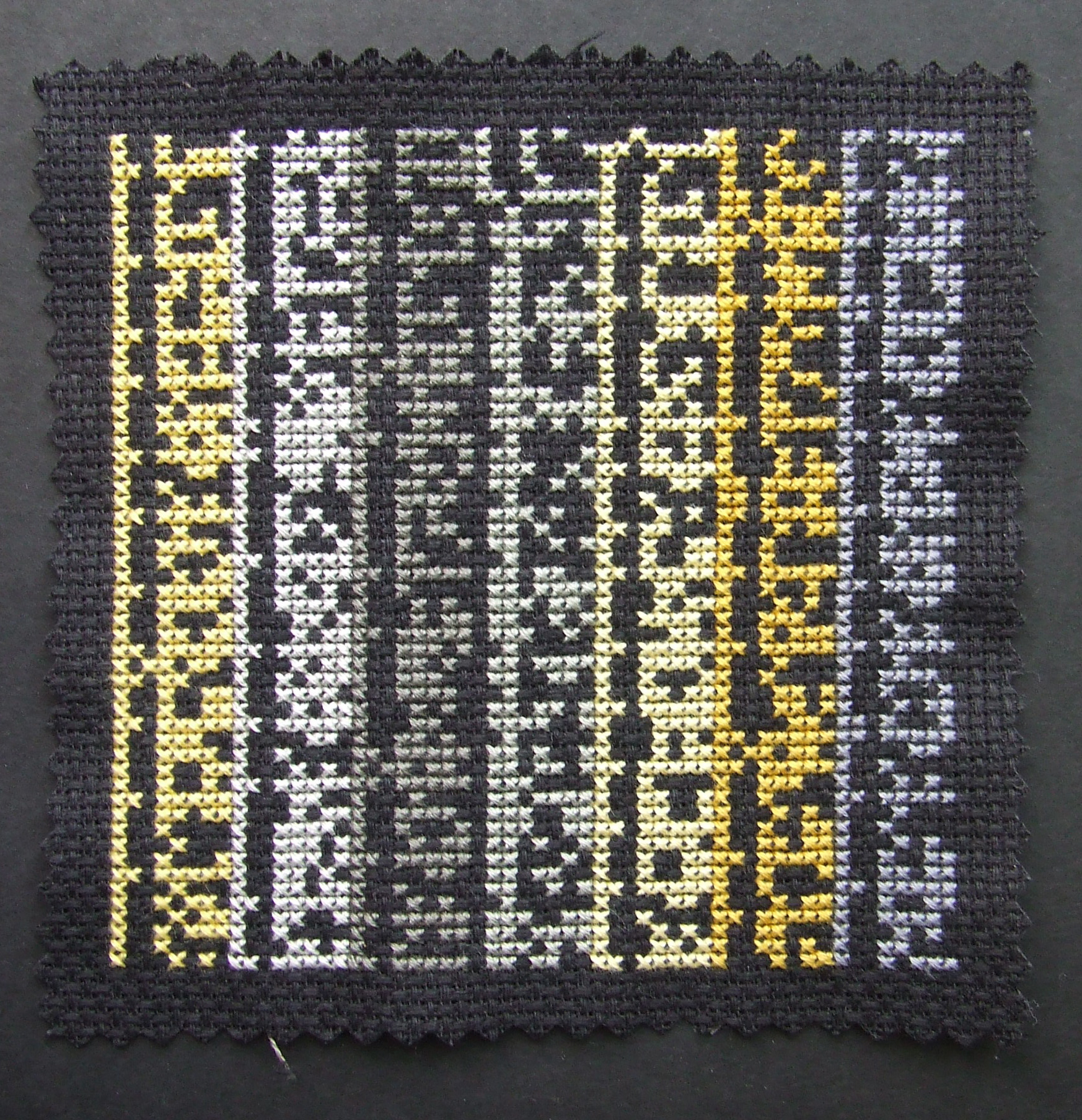 """Impossible Soul"" Binary Cross Stitch"