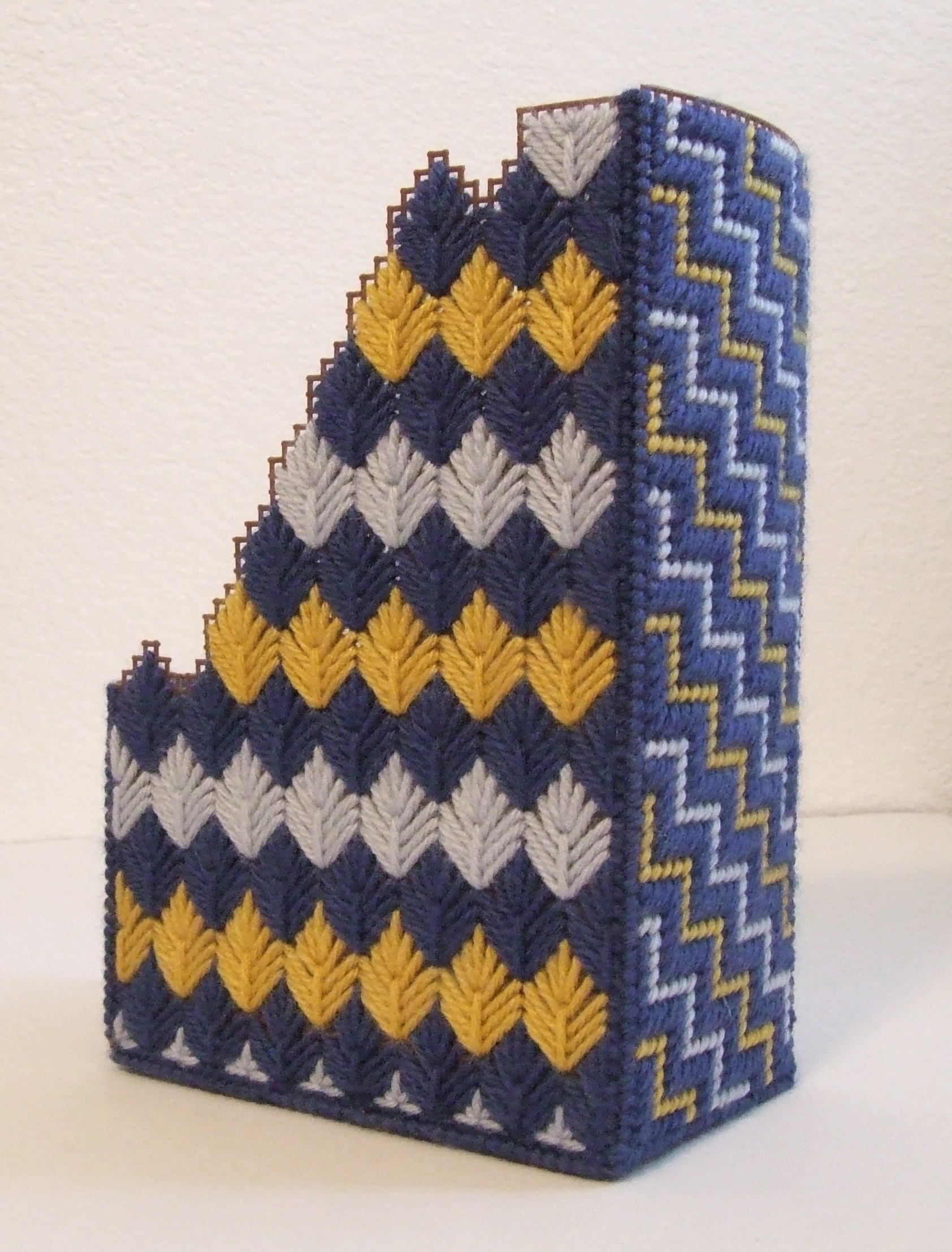 Needlepoint Magazine Holder