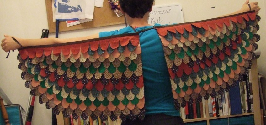 Patchwork Wings Halloween Costume