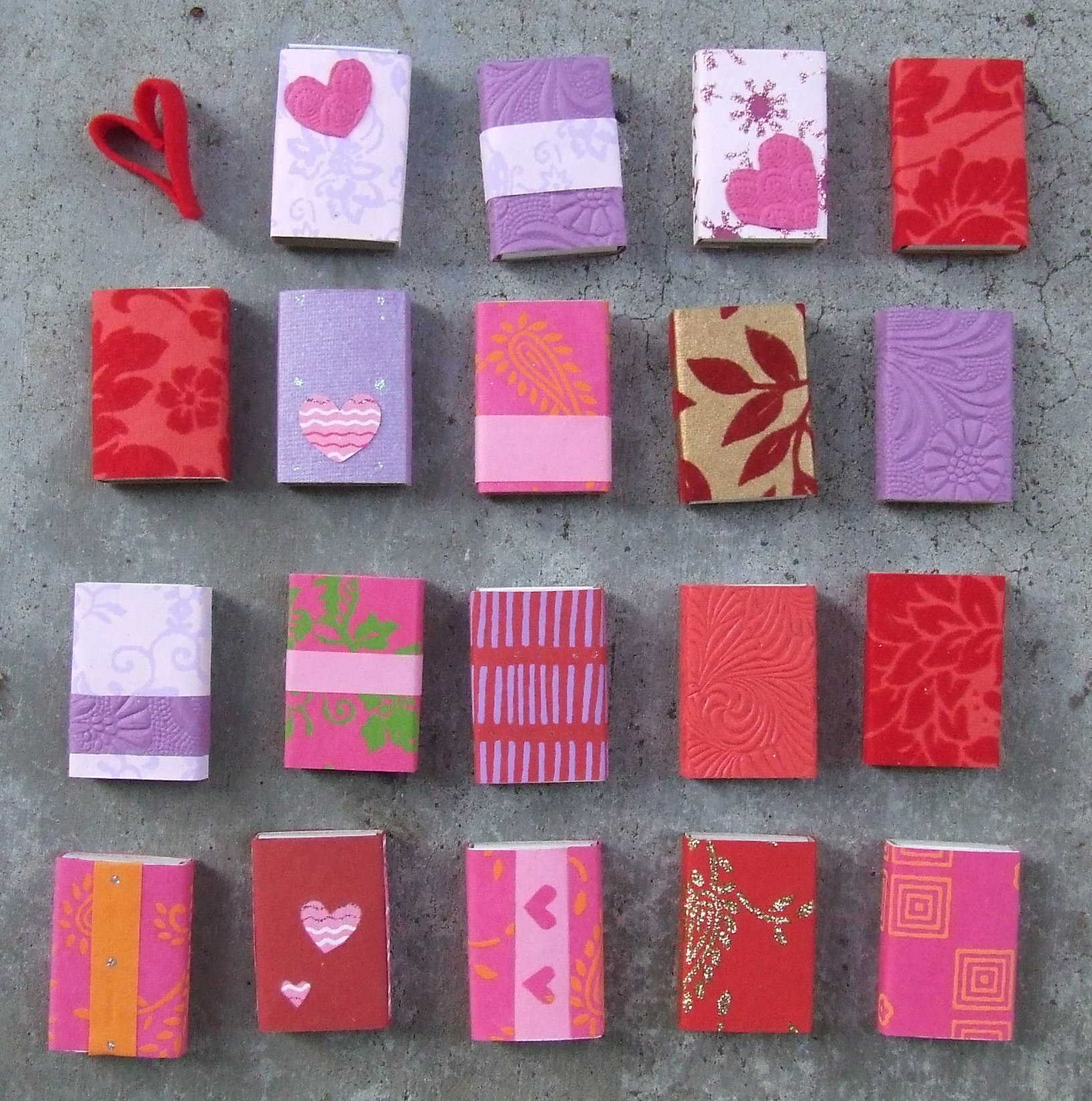 Valentine's Day Candy Matchboxes