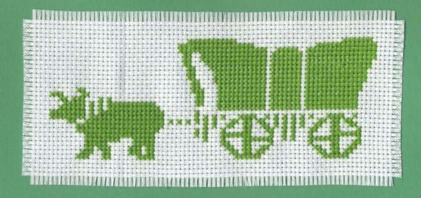 Oregon Trail Cross Stitch