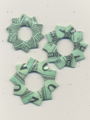 Board Game Money Origami