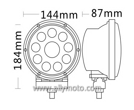 42W Cree LED Driving Light Work Light 1059