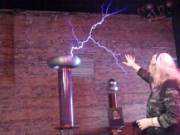 Alma and the Tesla coil pgoto