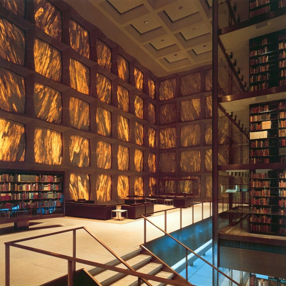 During the day, the Beinecke Library's walls turn amber if you're inside.