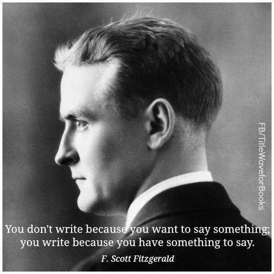 QUOTE F. Scott Fitzgerald