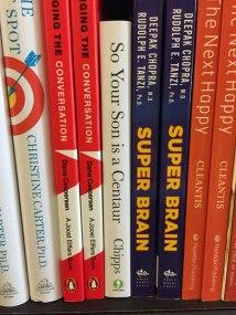 Fake Self Help Books on shelf photo