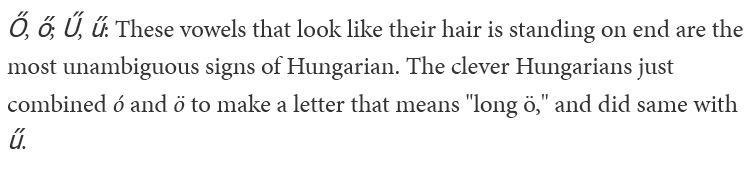 Hungarian accent marks illlustration