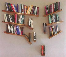 Falling Books Bookcase photo