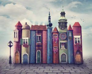 Book city illustration