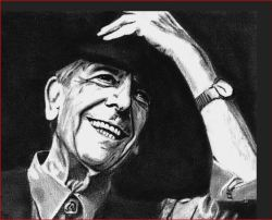 Leonard Cohen head shot