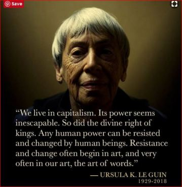 Ursula Le Guin photo poster