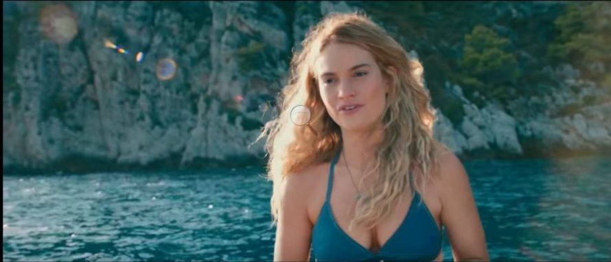 Photo of Lily James in scene from'Mamma Mia