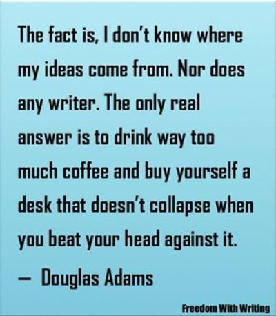 Douglas Adams quote illustration