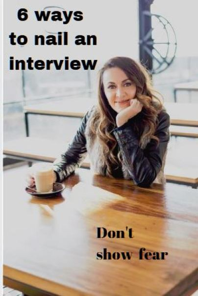 A poster about writing tips for interviews.